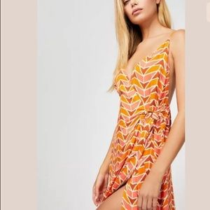 NEW Free People Siren Wrap Maxi Dress S Geometric